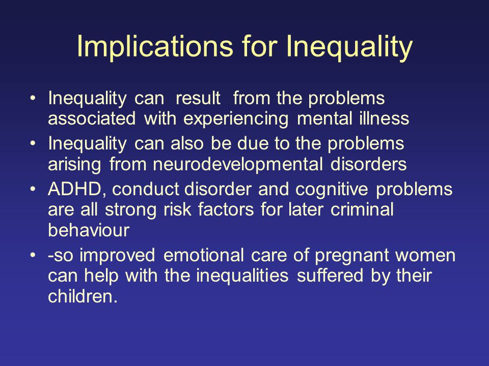 Implications for Inequality