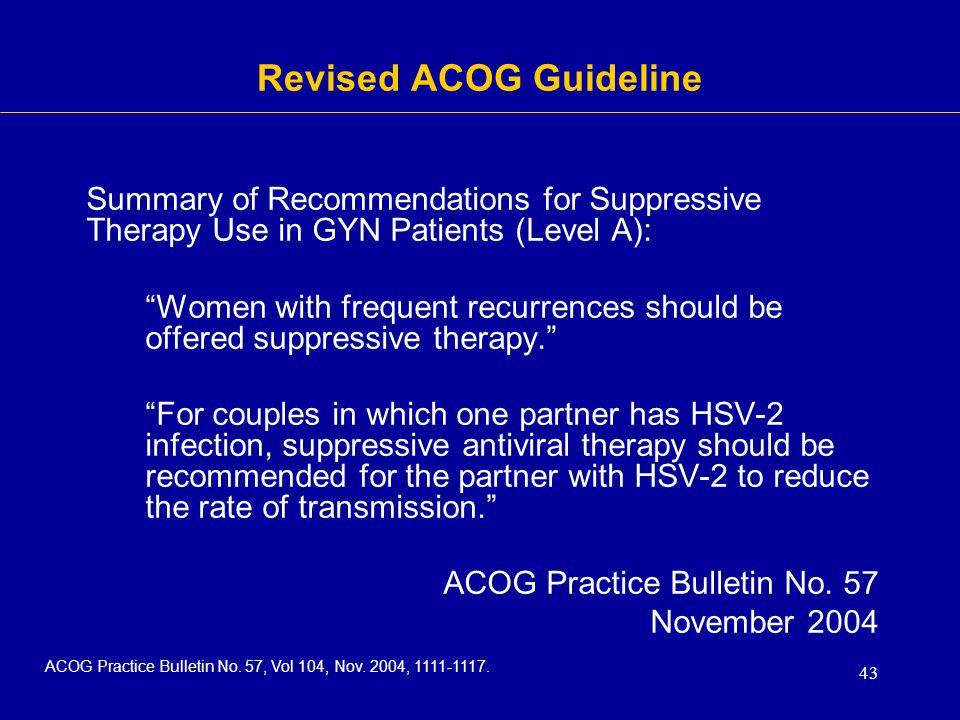Revised ACOG Guideline