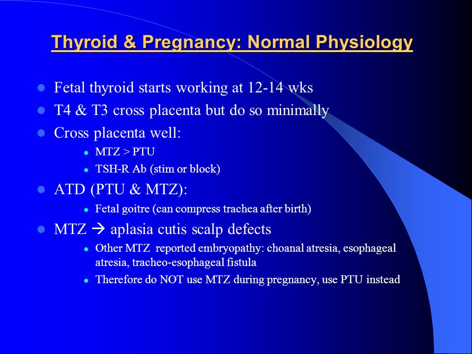 Thyroid & Pregnancy: Normal Physiology