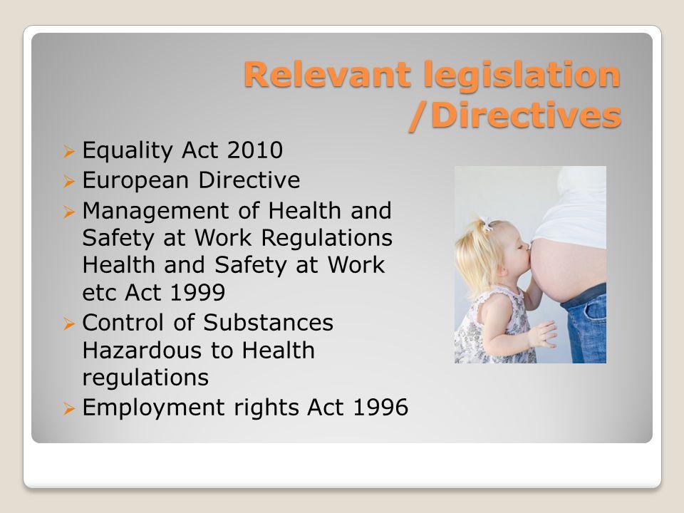 Relevant legislation /Directives