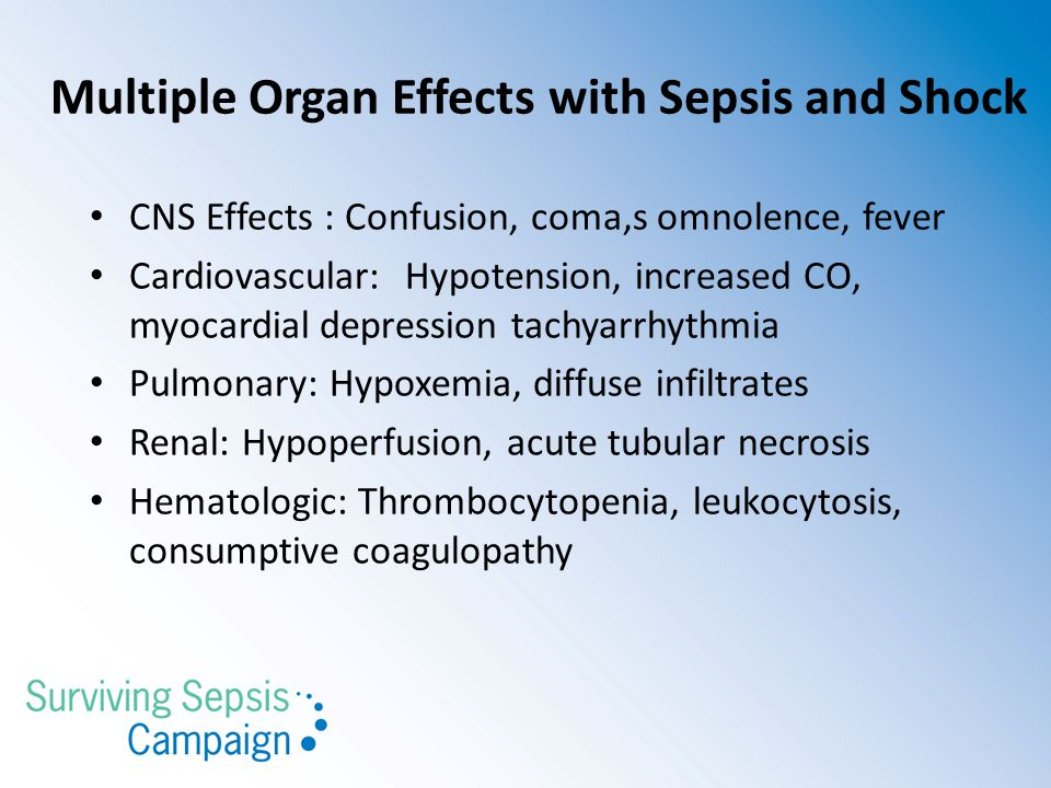Multiple Organ Effects with Sepsis and Shock