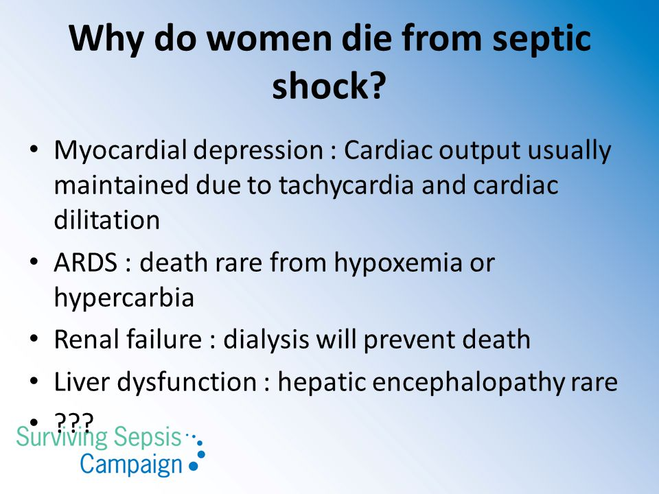 Why do women die from septic shock