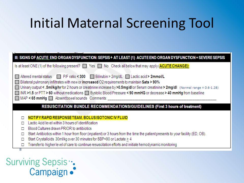Initial Maternal Screening Tool
