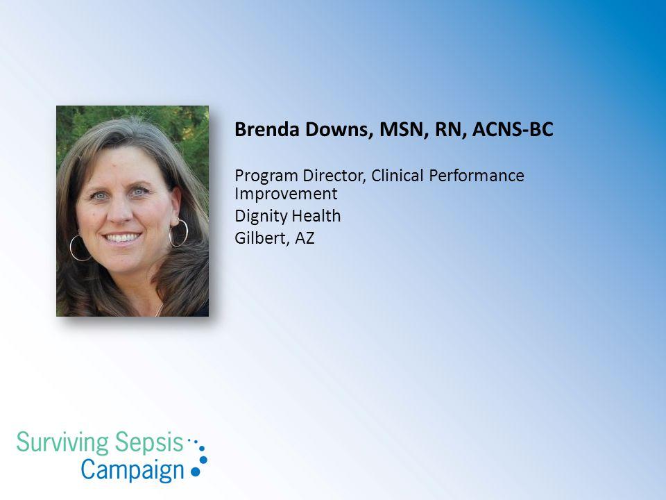 Brenda Downs, MSN, RN, ACNS-BC