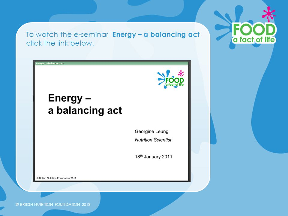 To watch the e-seminar Energy – a balancing act click the link below.