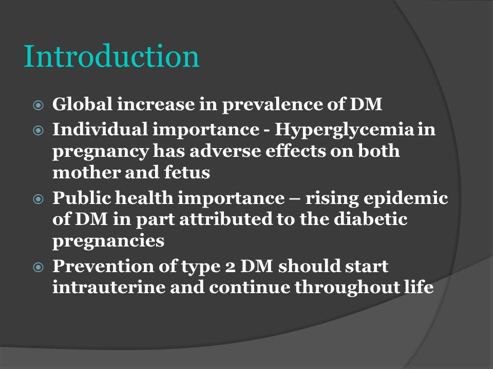Introduction Global increase in prevalence of DM