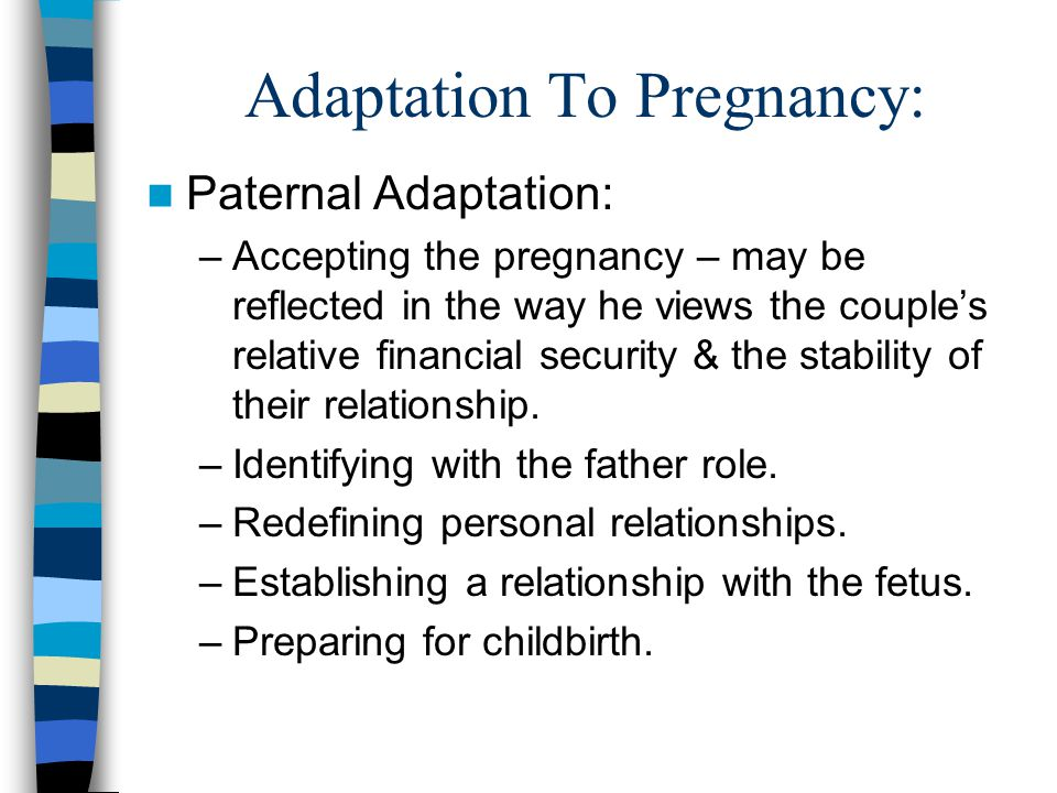 Adaptation To Pregnancy: