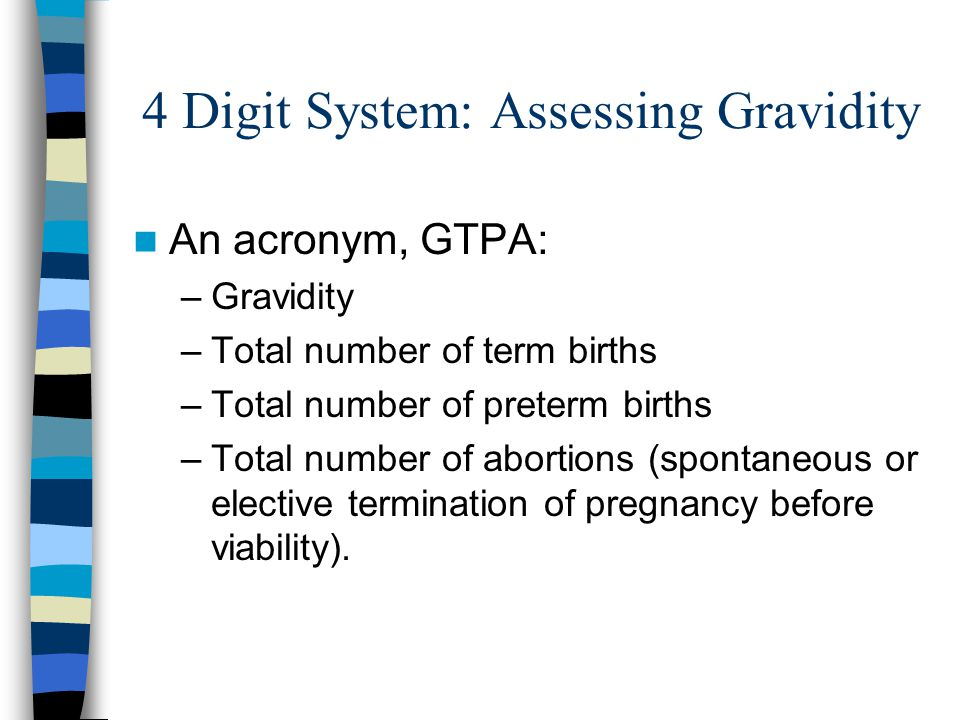 4 Digit System: Assessing Gravidity