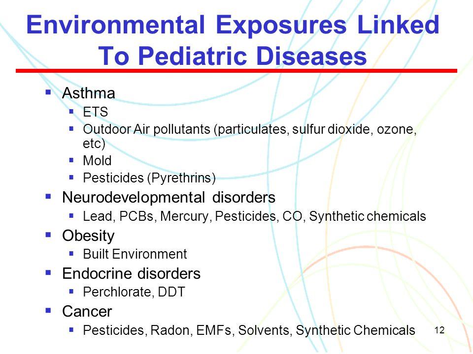 Environmental Exposures Linked To Pediatric Diseases