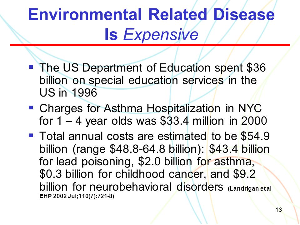 Environmental Related Disease Is Expensive