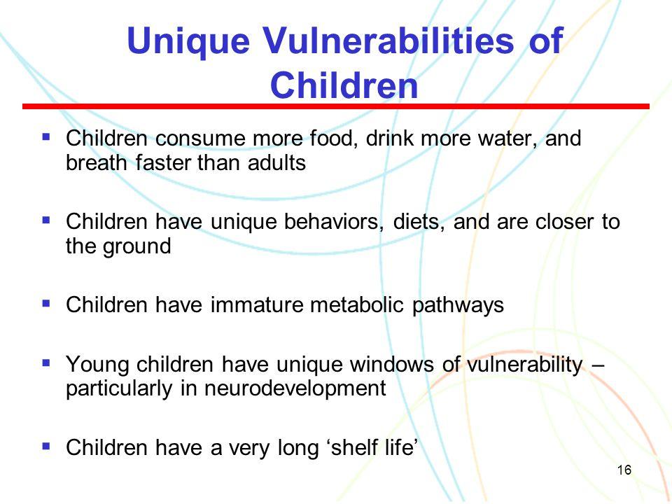 Unique Vulnerabilities of Children