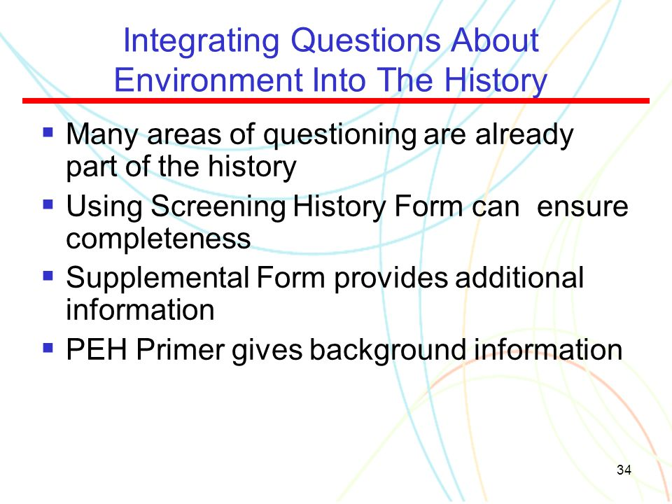 Integrating Questions About Environment Into The History