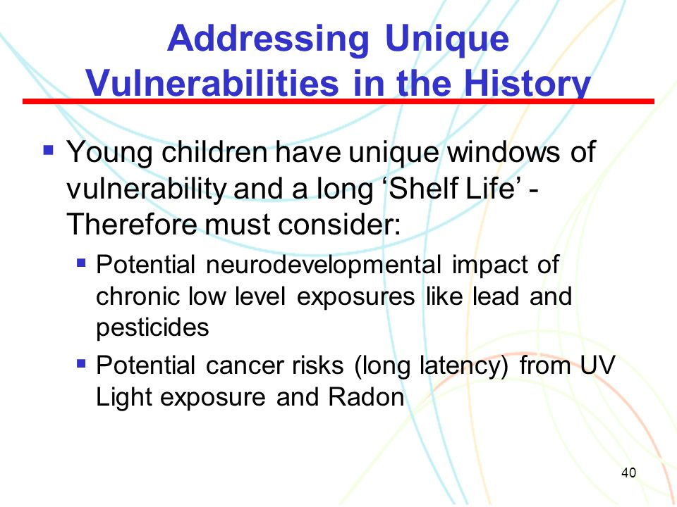 Addressing Unique Vulnerabilities in the History
