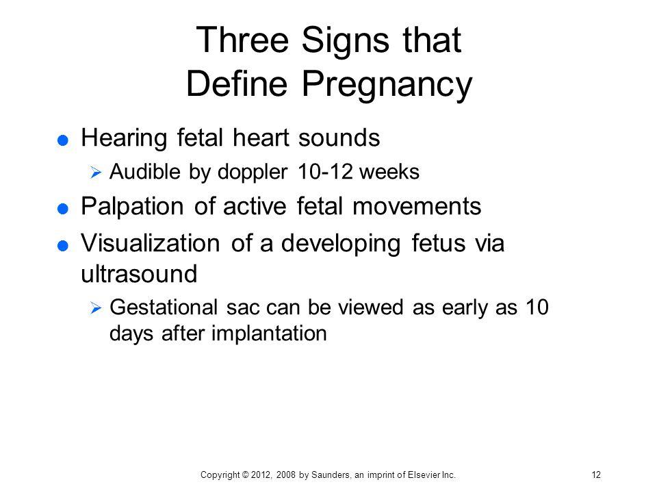Three Signs that Define Pregnancy