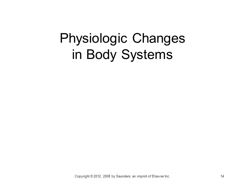 Physiologic Changes in Body Systems