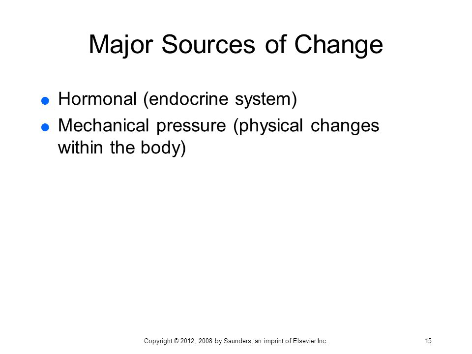 Major Sources of Change