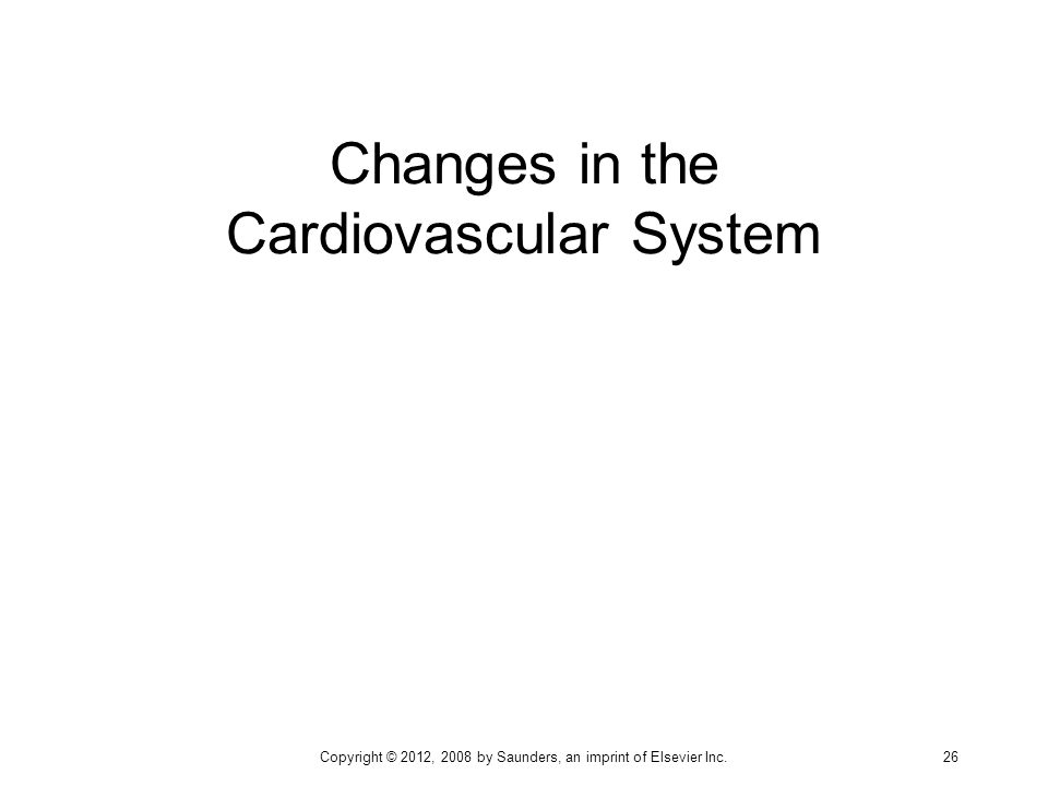 Changes in the Cardiovascular System