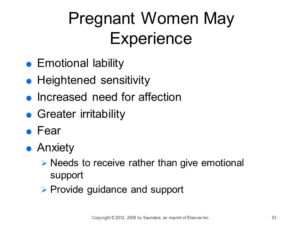 Pregnant Women May Experience