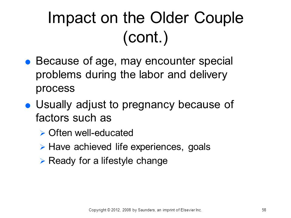 Impact on the Older Couple (cont.)