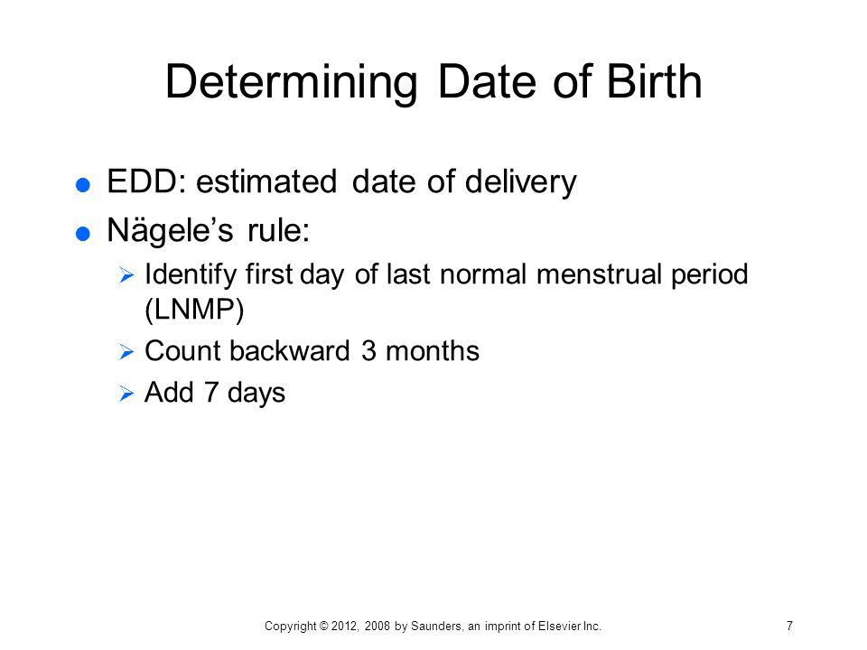 Determining Date of Birth