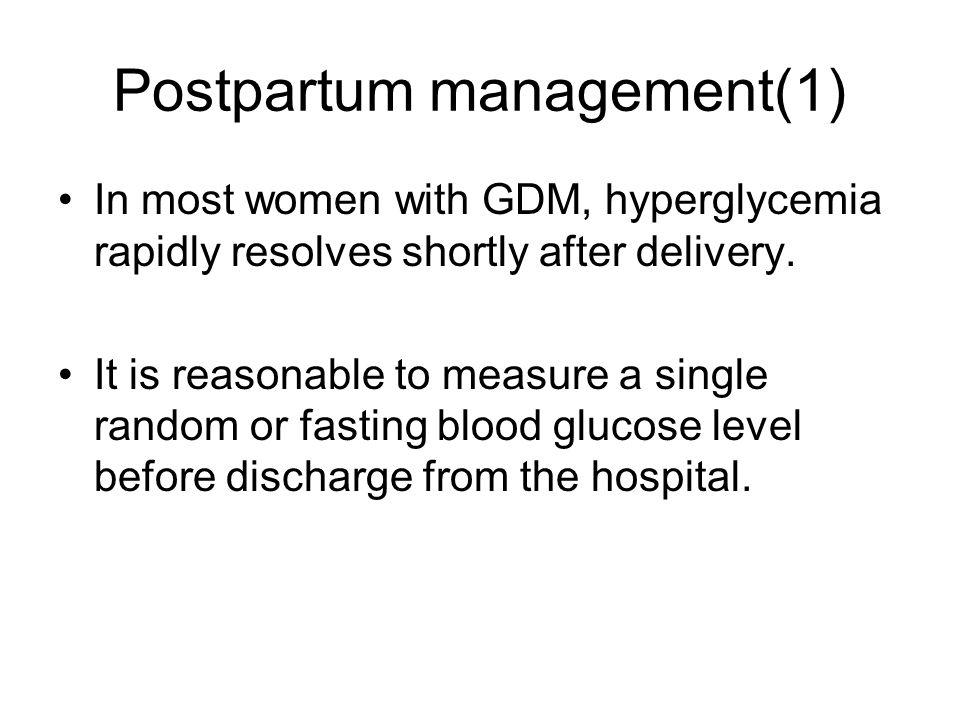Postpartum management(1)