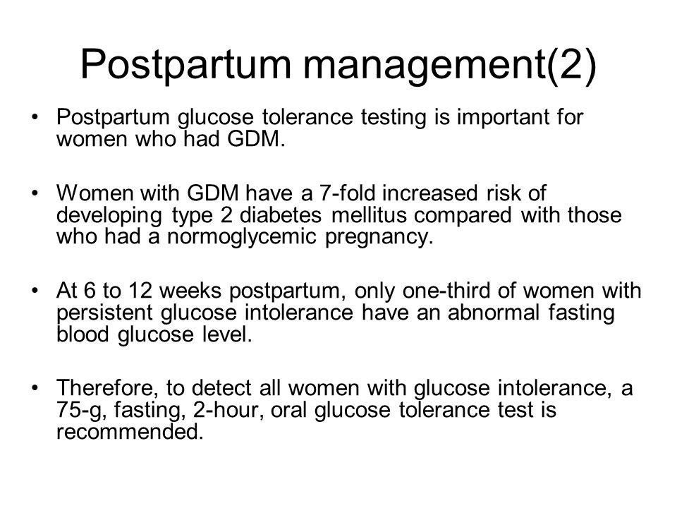Postpartum management(2)