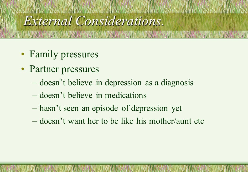 External Considerations.