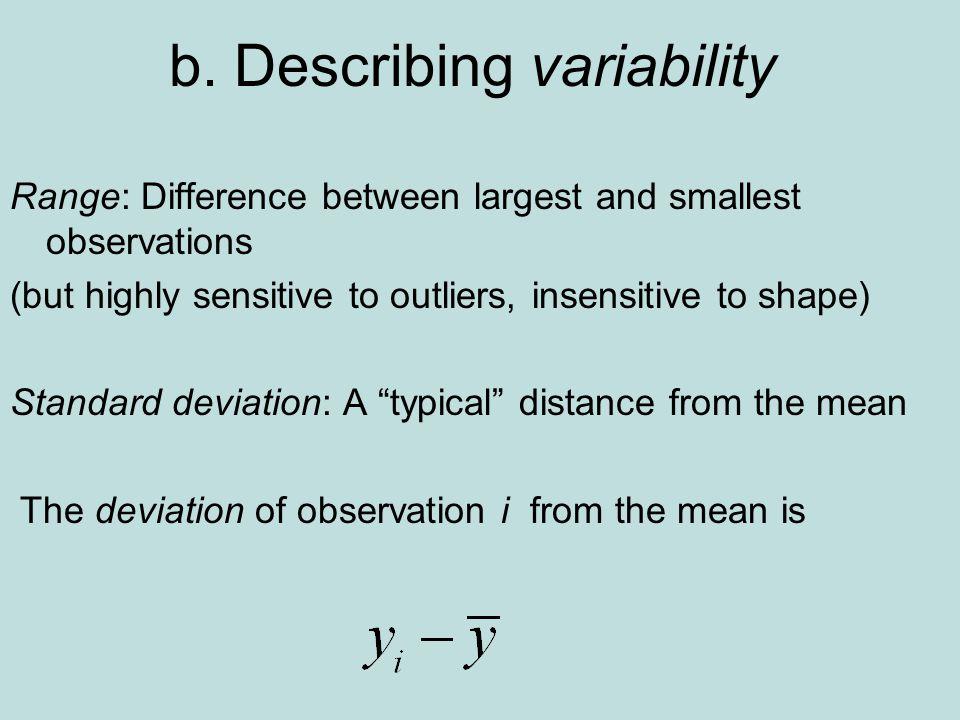 b. Describing variability