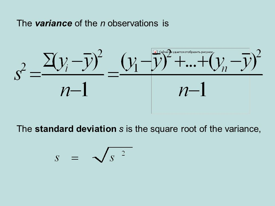 The variance of the n observations is
