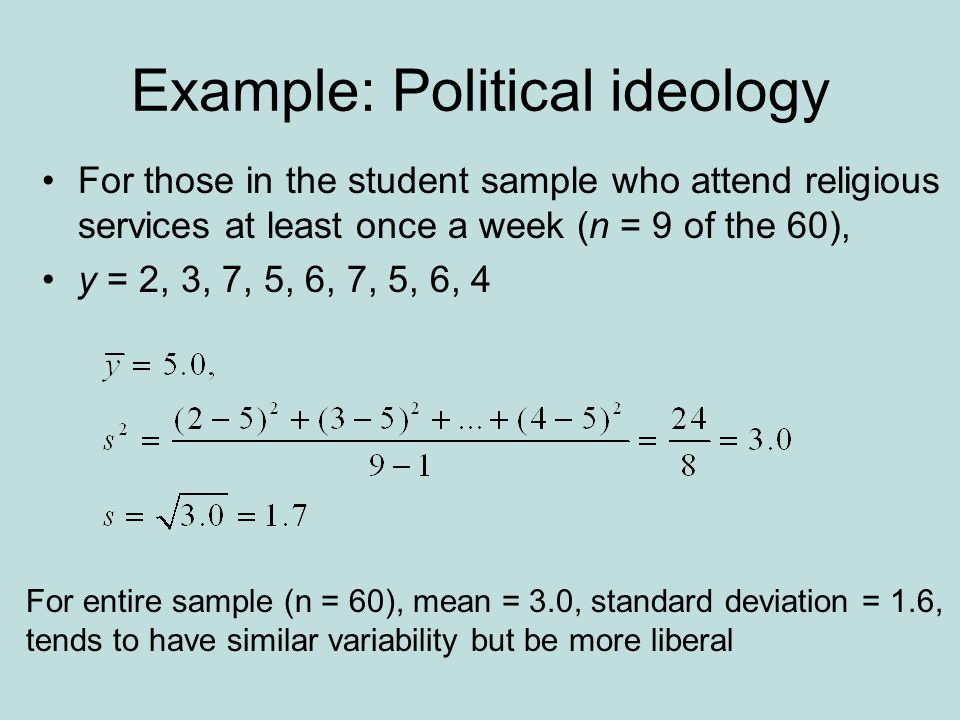 Example: Political ideology