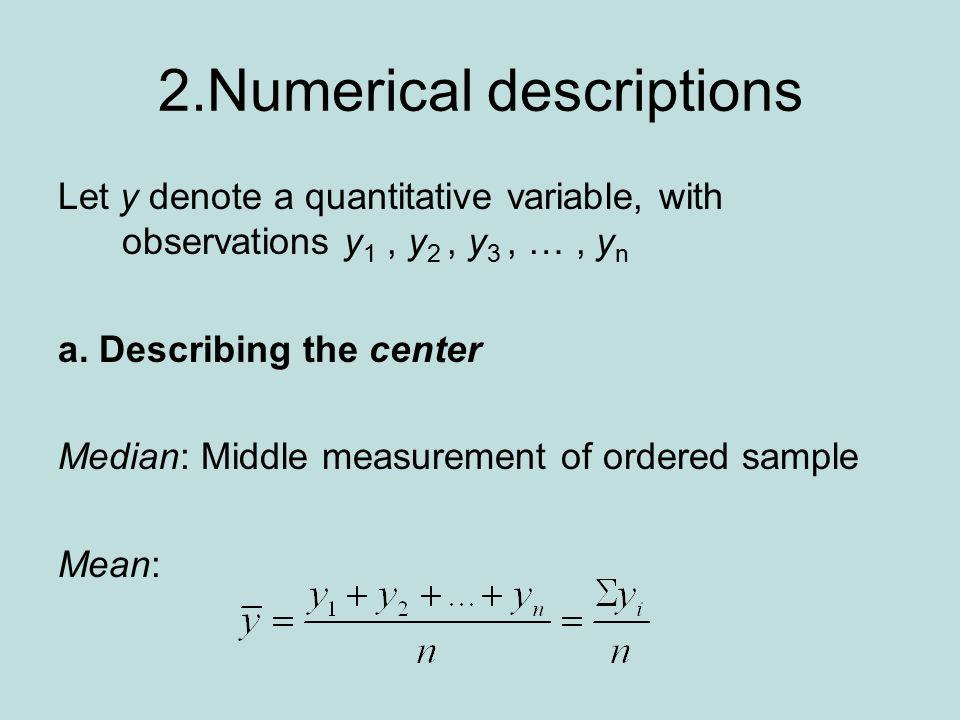 2.Numerical descriptions