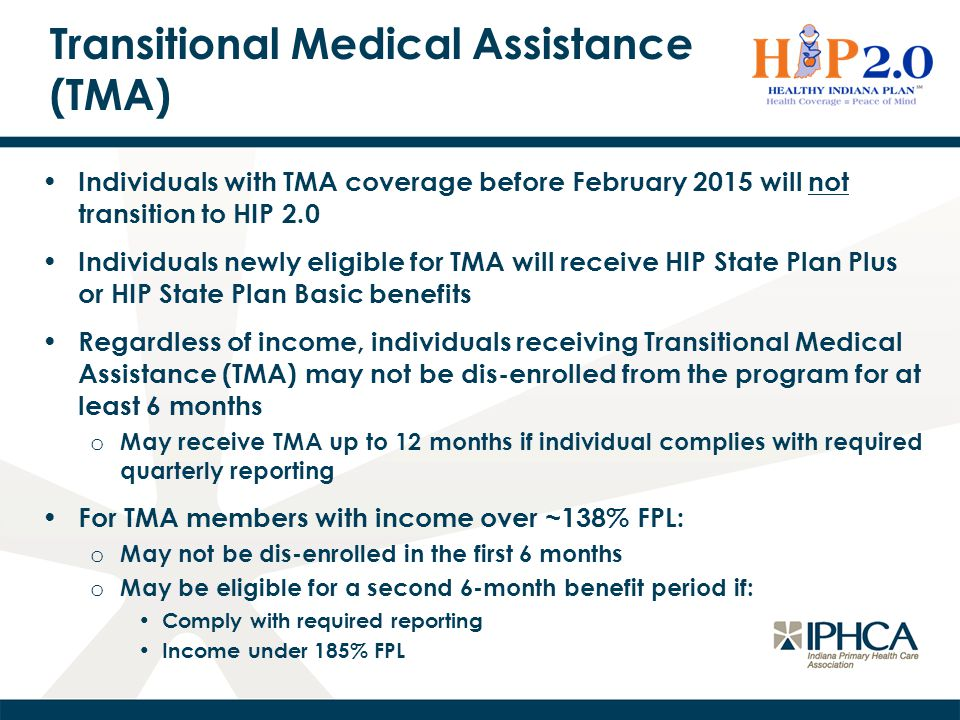 Transitional Medical Assistance (TMA)