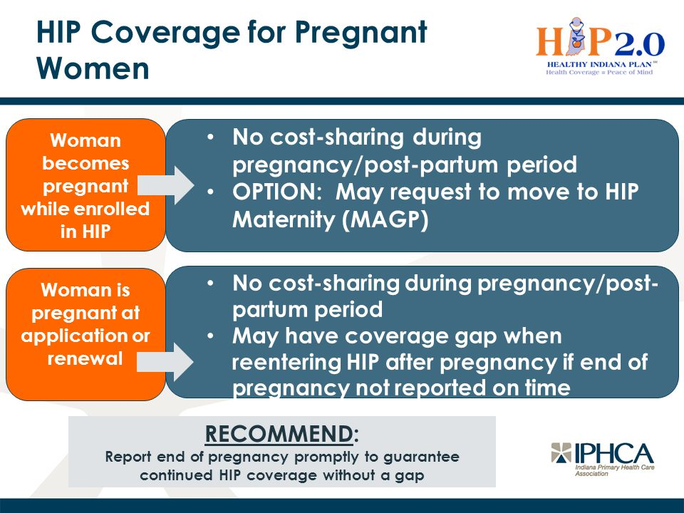 HIP Coverage for Pregnant Women