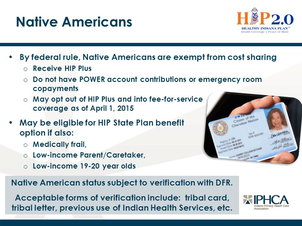 Native American status subject to verification with DFR.