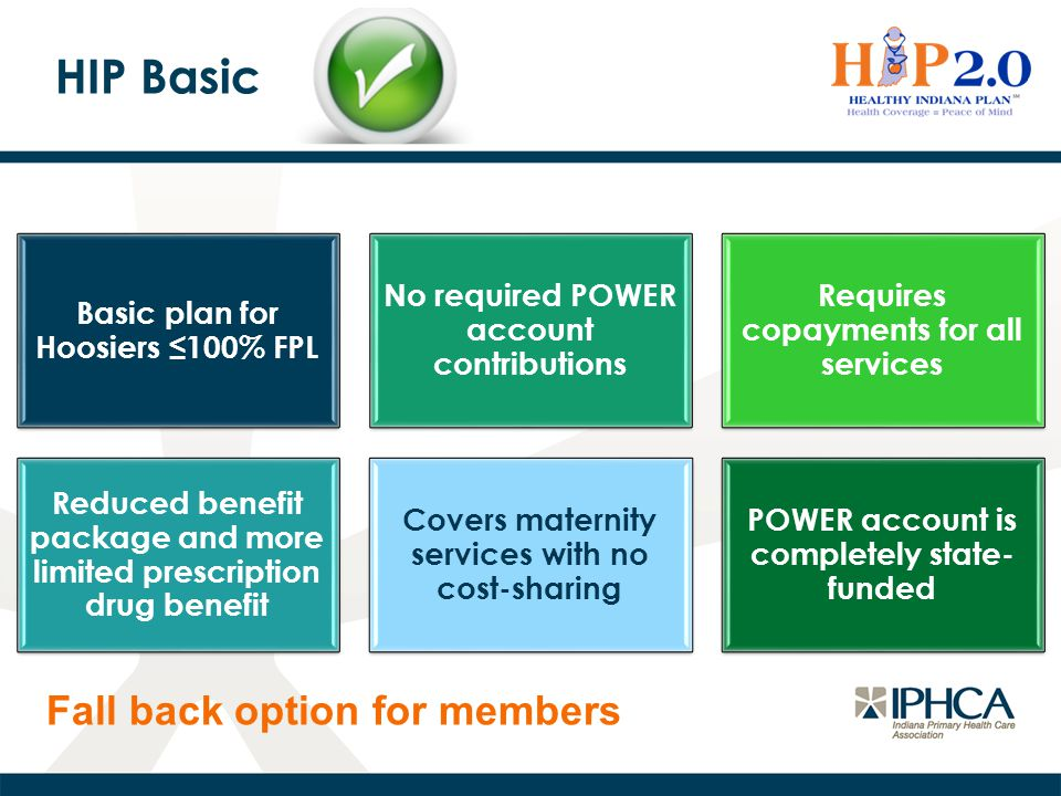 HIP Basic Fall back option for members