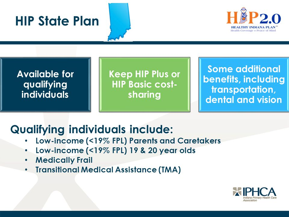 HIP State Plan Qualifying individuals include: