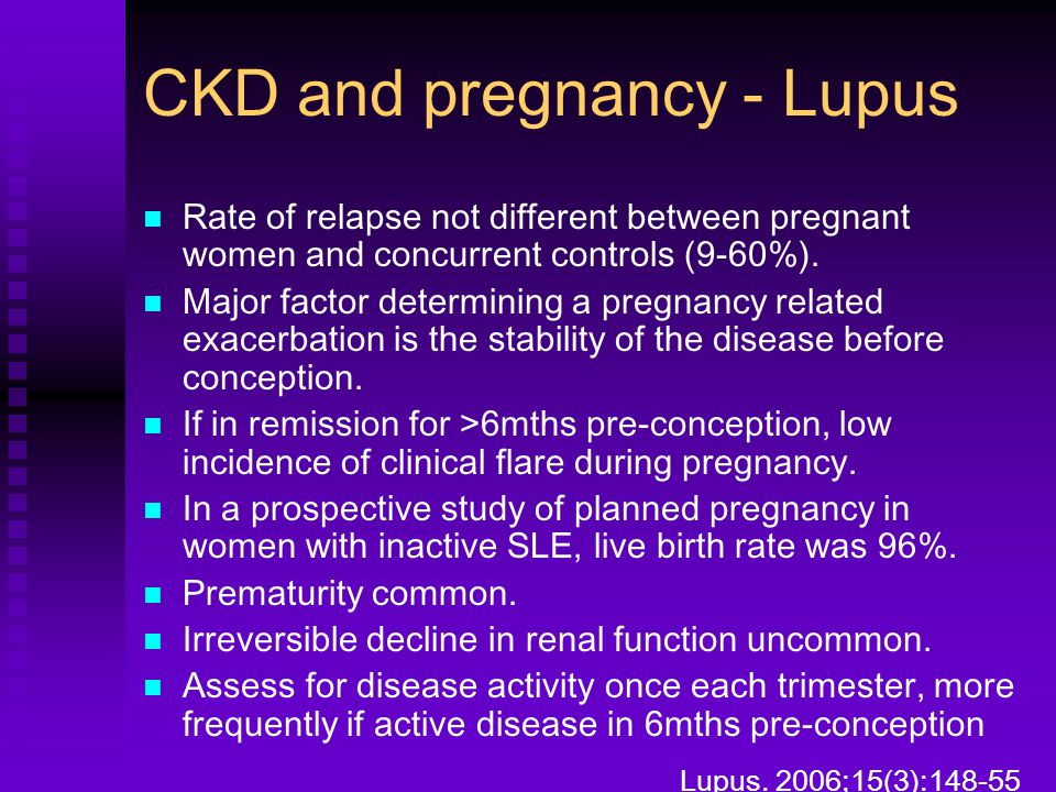CKD and pregnancy - Lupus