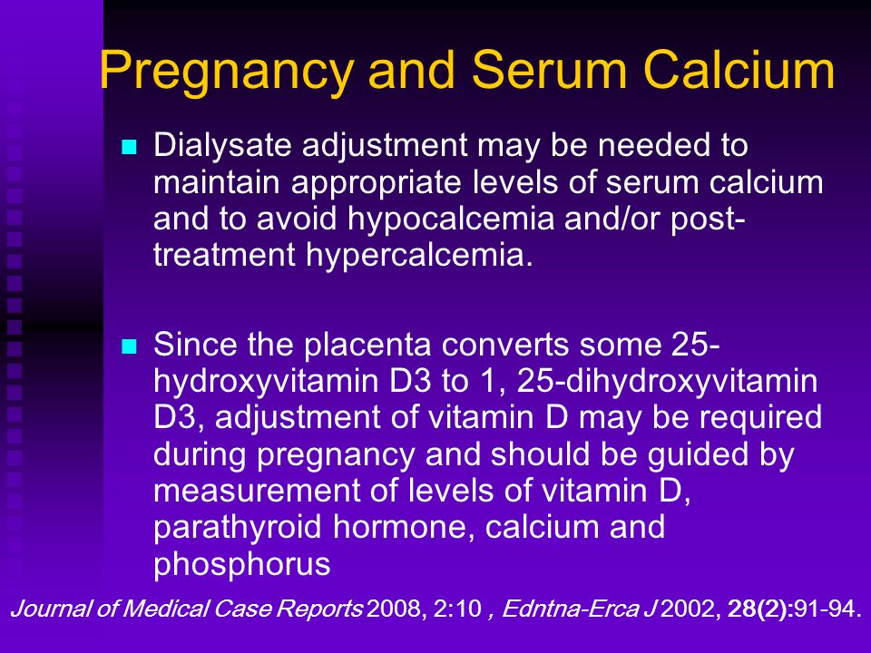 Pregnancy and Serum Calcium