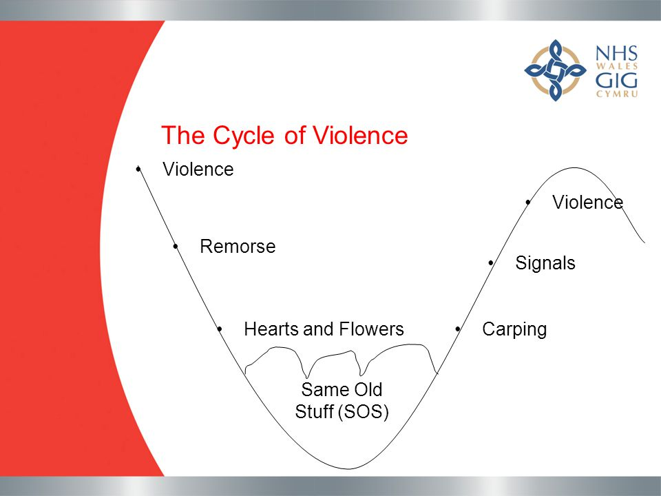 The Cycle of Violence Violence Violence Remorse Signals