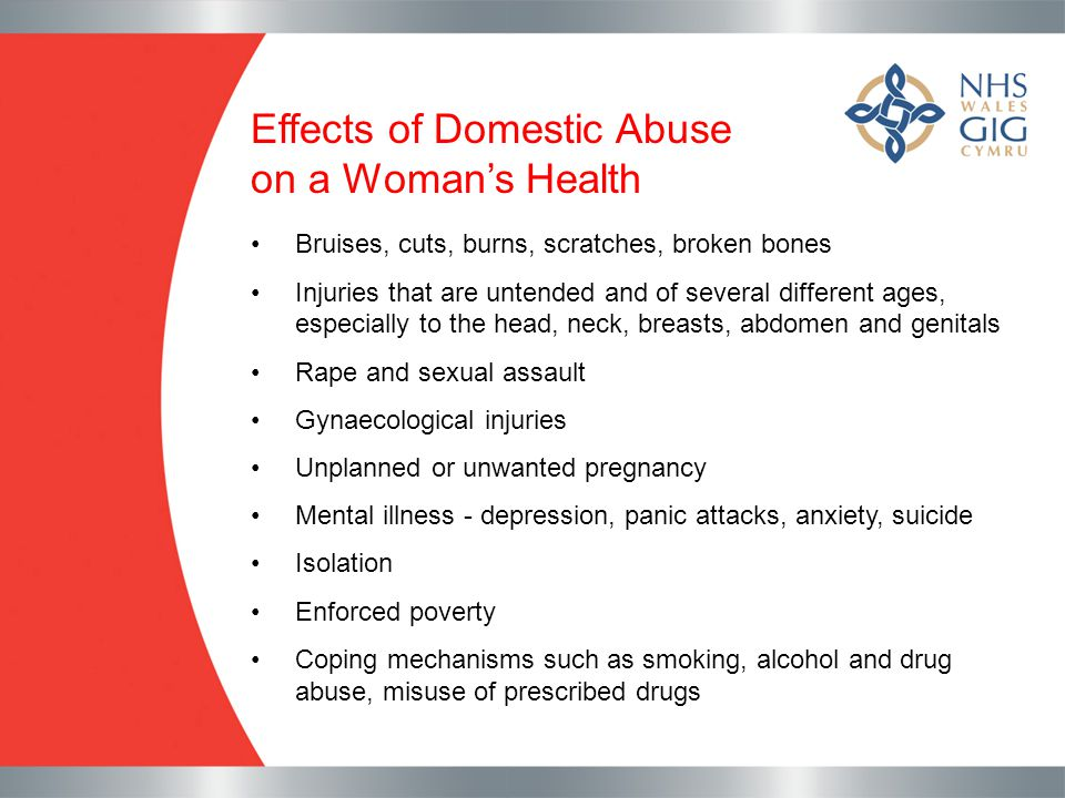 Effects of Domestic Abuse on a Woman's Health