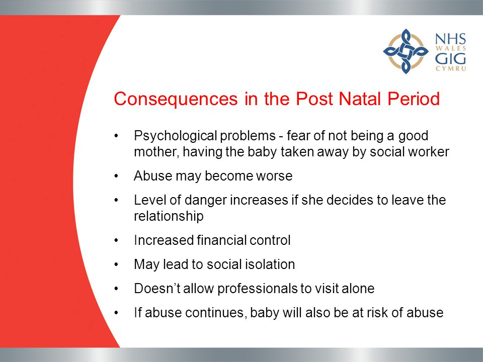 Consequences in the Post Natal Period
