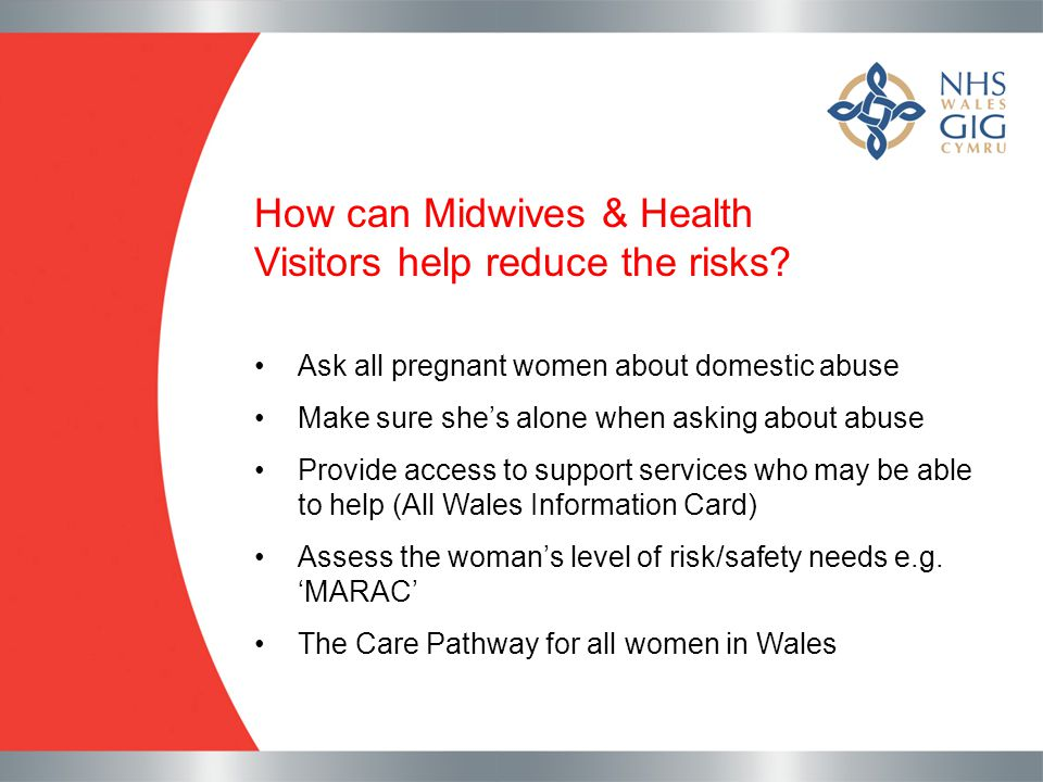 How can Midwives & Health Visitors help reduce the risks