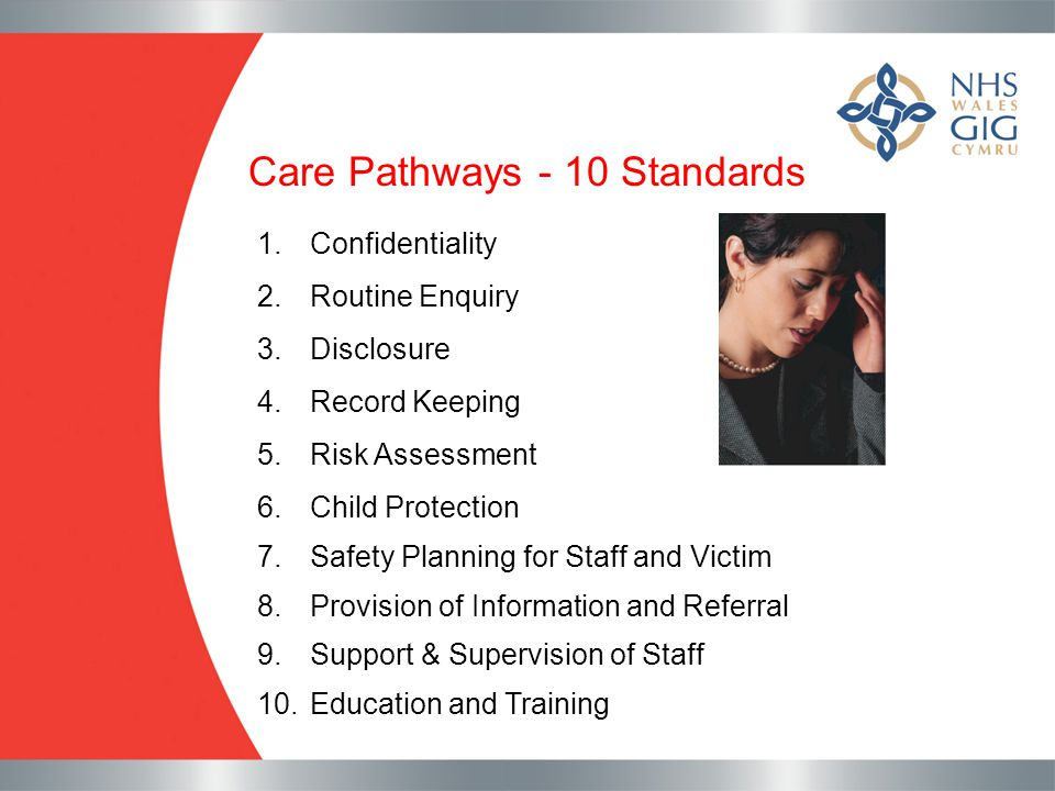 Care Pathways - 10 Standards