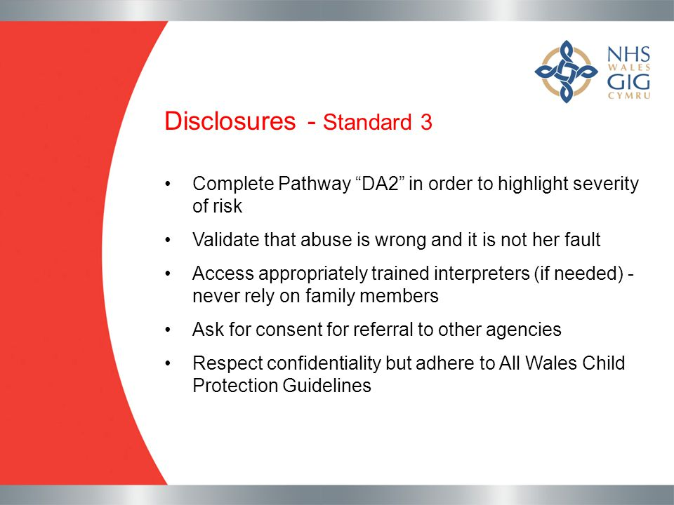 Disclosures - Standard 3