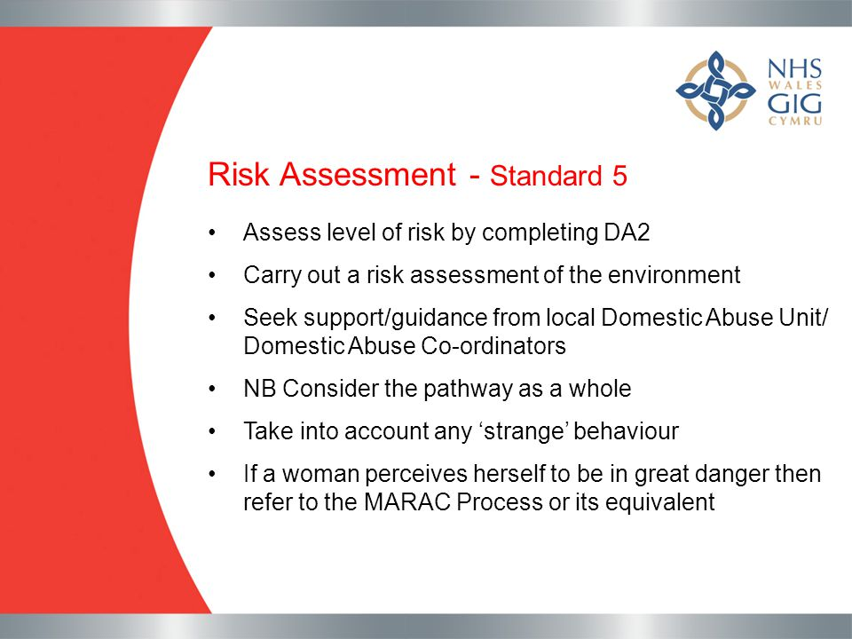 Risk Assessment - Standard 5