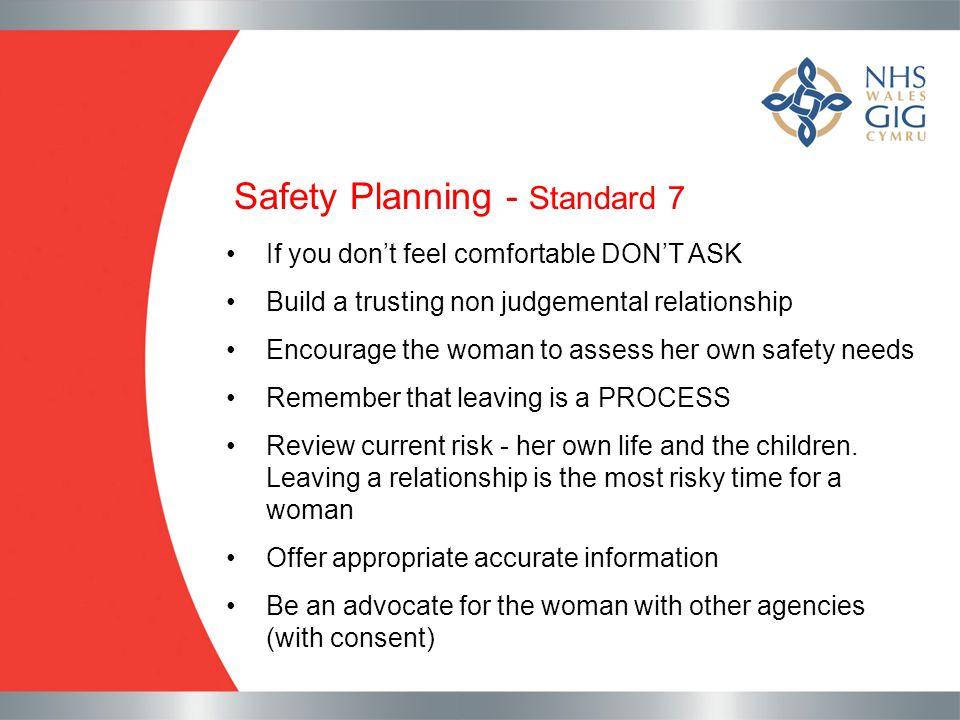 Safety Planning - Standard 7