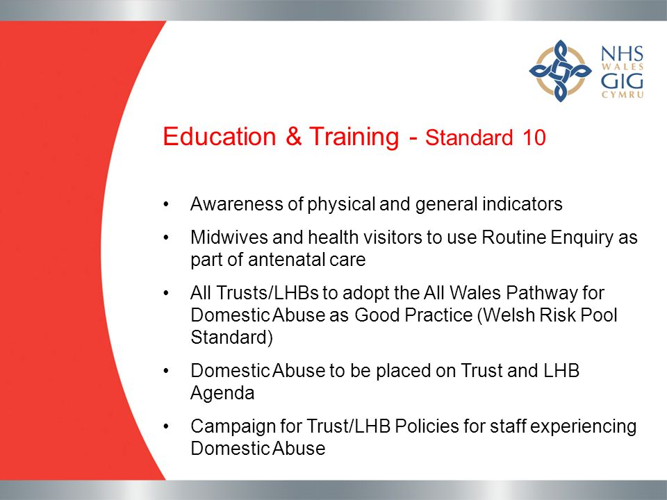 Education & Training - Standard 10