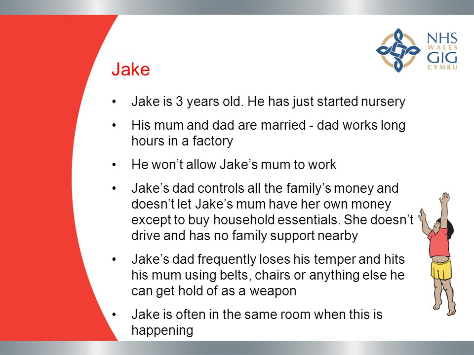 Jake Jake is 3 years old. He has just started nursery