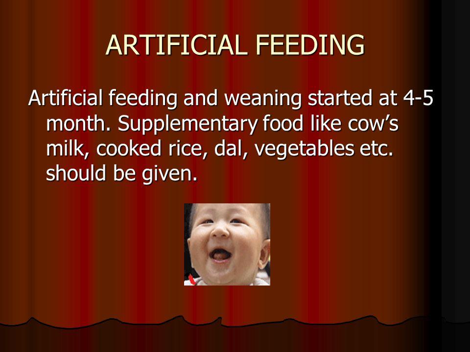 ARTIFICIAL FEEDING