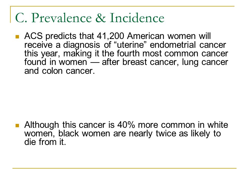 C. Prevalence & Incidence